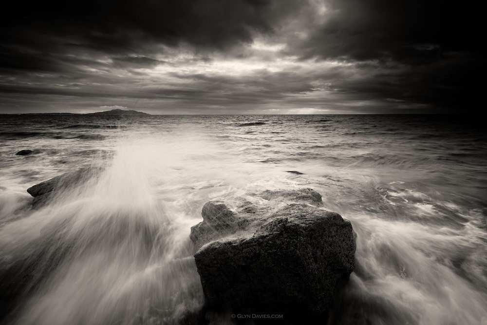 Darkness surfed in on cold waves from the Irish Sea