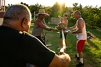 Backyard Family Pig Roast Cuba 2020 from Santiago to Havana, and in between.  Santiago, Baracoa, Guantanamo, Holguin, Las Tunas, Camaguey, Santi Spiritus, Trinidad, Santa Clara, Cienfuegos, Matanzas, Havana
