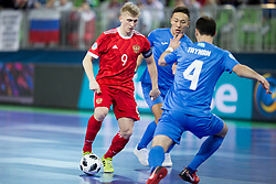 Sergei Abramov of Russia during futsal match between National teams of Kazakhstan and Russia at Day 5 of UEFA Futsal EURO 2018, on February 3, 2018 in Arena Stozice, Ljubljana, Slovenia. Photo by Urban Urbanc / Sportida