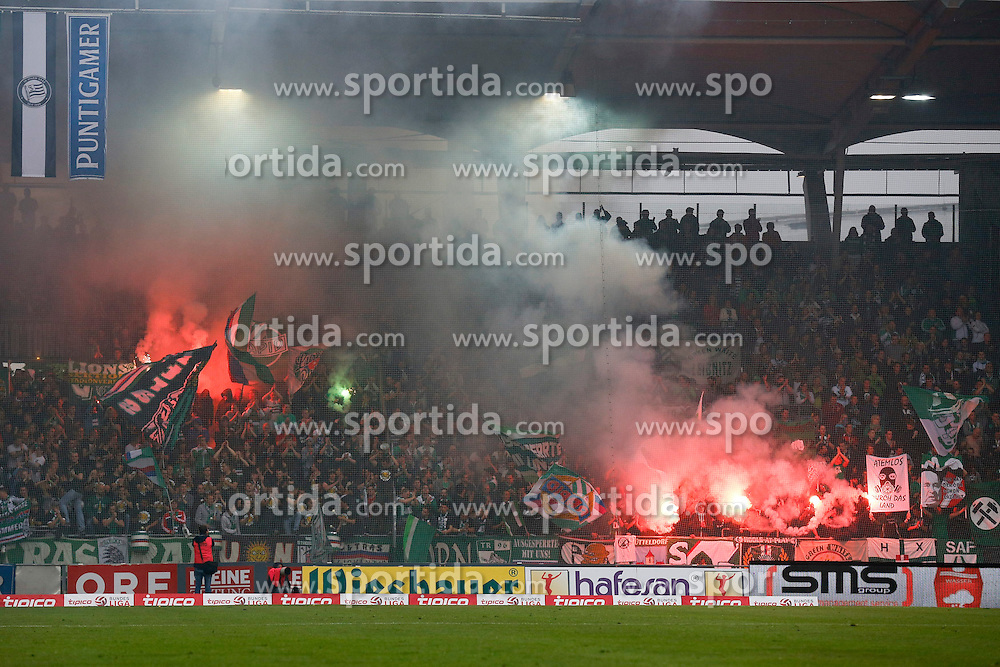 03.05.2015, UPC Arena, Graz, AUT, 1. FBL, SK Puntigamer Sturm Graz vs SK Rapid Wien, 31. Runde, im Bild Rapid Fans // during the Austrian Football Bundesliga Match, 31st Round, between SK Puntigamer Sturm Graz and SK Rapid Wien at the UPC Arena, Graz, Austria on 2015/05/03, EXPA Pictures © 2015, PhotoCredit: EXPA/ Erwin Scheriau