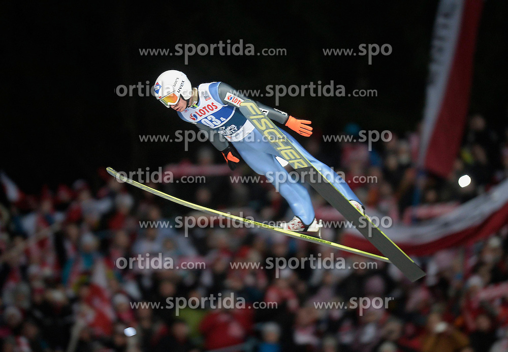 17.01.2015, Wielka Krokiew, Zakopane, POL, FIS Weltcup Ski Sprung, Zakopane, Herren, Teamspringen, im Bild Kamil Stoch // during mens Large Hill Team competition of FIS Ski Jumping world cup at the Wielka Krokiew in Zakopane, Poland on 2015/01/17. EXPA Pictures &copy; 2015, PhotoCredit: EXPA/ Newspix/ Irek Dorozanski<br /> <br /> *****ATTENTION - for AUT, SLO, CRO, SRB, BIH, MAZ, TUR, SUI, SWE only*****