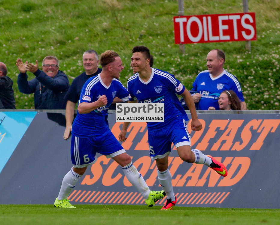 Peterhead v Dunfermline Athletic SPFL League One Season 2015/16 Balmoor Stadium 22 August 2015<br /> Leighton McIntosh celebrates the winner<br /> CRAIG BROWN | sportPix.org.uk