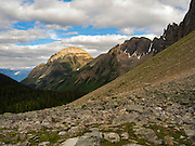 An eastward looking view towards the Columbia River Valley after leaving Gorman Lake, British Columbia.
