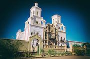 Mission San Xavier del Bac, Tohono O'odham Indian Reservation, Tucson, Arizona USA