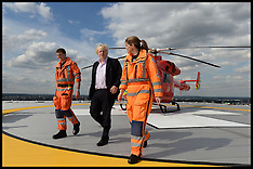 AUG 06 2013 Boris Johnson visits Londons Air Ambulance