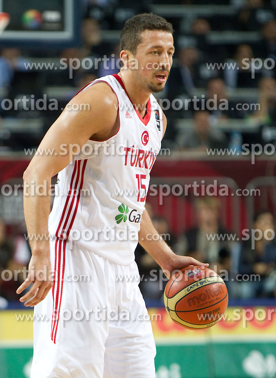 Hidayet Turkoglu of Turkey during  the eight-final basketball match between National teams of Turkey and France at 2010 FIBA World Championships on September 5, 2010 at the Sinan Erdem Dome in Istanbul, Turkey. (Photo By Vid Ponikvar / Sportida.com)