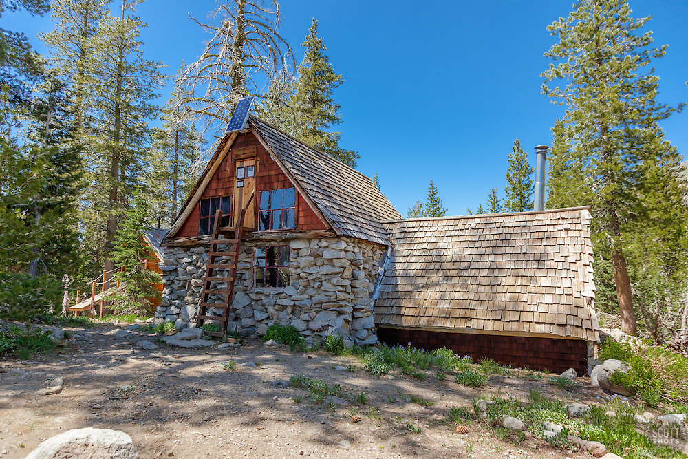 """Peter Grubb Hut"" - Photograph of the Peter Grubb Hut off of the Pacific Crest Trail, near Castle Peak."