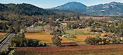 Aerial view of Revana winery & vineyards, Napa, California