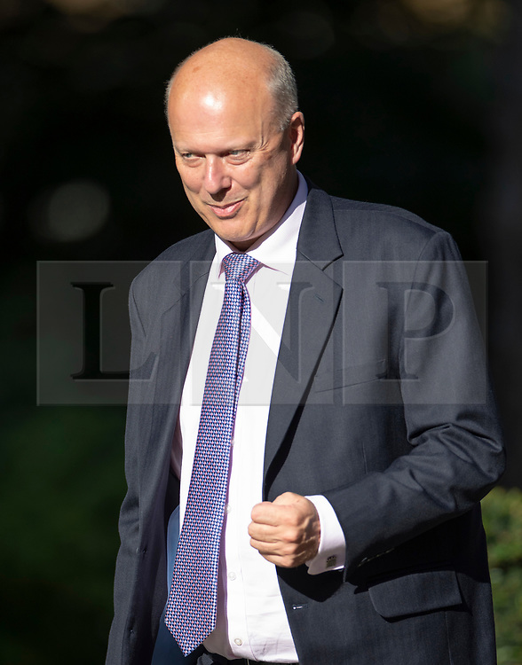 © Licensed to London News Pictures. 22/07/2019. London, UK. Transport Minister Chris Graying arrives for Prime Minister Theresa May's farewell drinks reception at Downing Street.  Voting in the Conservative party leadership election ends today with the results to be announced tomorrow. Photo credit: Peter Macdiarmid/LNP