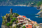 Doria Castle above the town of Vernazza, Cinque Terre, Liguria, Italy