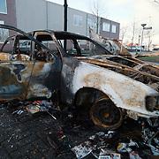 Uitgebrande auto Ambachtsweg