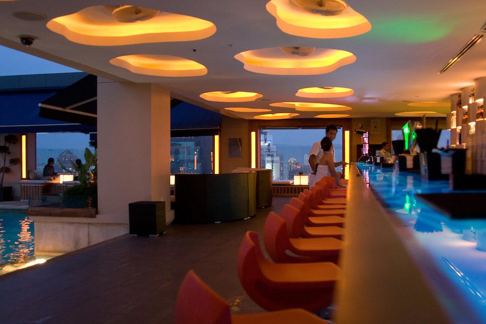 inside the popular Luna Bar, in Kuala Lumpur, Malaysia