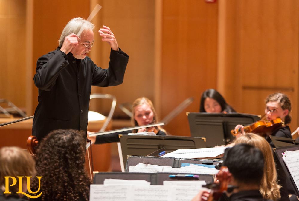 PLU Symphony Orchestra, Monday, Oct. 10, 2016. (Photo: John Froschauer/PLU)