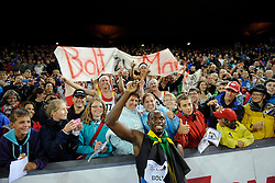 30.08.2012, Stadion Letzigrund, Zuerich, SUI, Leichtathletik, Weltklasse Zurich 2012, im Bild Sieger Usain Bolt (JAM), 200m Maenner // during Athletics World Class Zurich 2012 at Letzigrund Stadium, Zurich, Switzerland on 2012/08/30. EXPA Pictures © 2012, PhotoCredit: EXPA/ Freshfocus/ Valeriano Di Domenico..***** ATTENTION - for AUT, SLO, CRO, SRB, BIH only *****