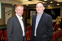 Frank Byrnes, Frank Byrnes Auto Repair , Oranmore and Niall O Reilly Executive Coach at Ignite Executive & Business Coaching at a Mentor evening for SCCUL Mentor at the Clayton Hotel Galway. Photo:Andrew Downes