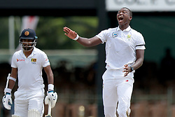 July 19, 2018 - Colombo, Sri Lanka - South African cricketer Lungi Ngidi appeals during the first day of the 2nd test cricket match between Sri Lanka and South Africa at SSC International Cricket ground, Colombo, Sri Lanka on Friday 20 July 2018  (Credit Image: © Tharaka Basnayaka/NurPhoto via ZUMA Press)
