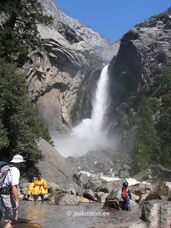 Lower Yosemite Waterfall, Yosemite National Park, Sierra Nevada Mountains, California, USA