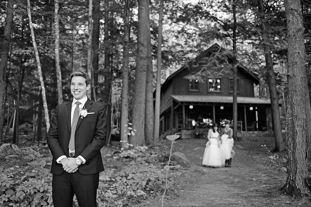 Migis Lodge Wedding of Sophie and Ed.  Image by Maine Wedding Photographer Michelle Turner.