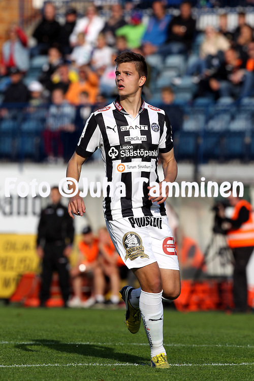 2.7.2014, Veritas Stadion, Turku.<br /> Veikkausliiga 2014.<br /> FC Inter Turku - Turun Palloseura.<br /> Ville Rannikko - TPS