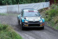 2019-09-07 | Linköping, Sweden: Patrik Flodin / Göran Bergsten during East Rally Sweden / Rally SM in Linköping ( Photo by: Simon Holmgren | Swe Press Photo )<br /> <br /> Keywords: Linköping, Linköping, Rally, East Rally Sweden / Rally SM, ,