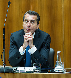 13.09.2016, Parlament, Wien, AUT, Parlament, Nationalratssitzung, Sondersitzung des Nationalrates auf Anfrage von FPÖ zum Thema Asylpolitik, im Bild Bundeskanzler Christian Kern (SPÖ) // Federal Chancellor of Austria Christian Kern during meeting of the National Council of austria at request of the austrian freedom party with topic Asylum policy at austrian parliament in Vienna, Austria on 2016/09/13, EXPA Pictures © 2016, PhotoCredit: EXPA/ Michael Gruber