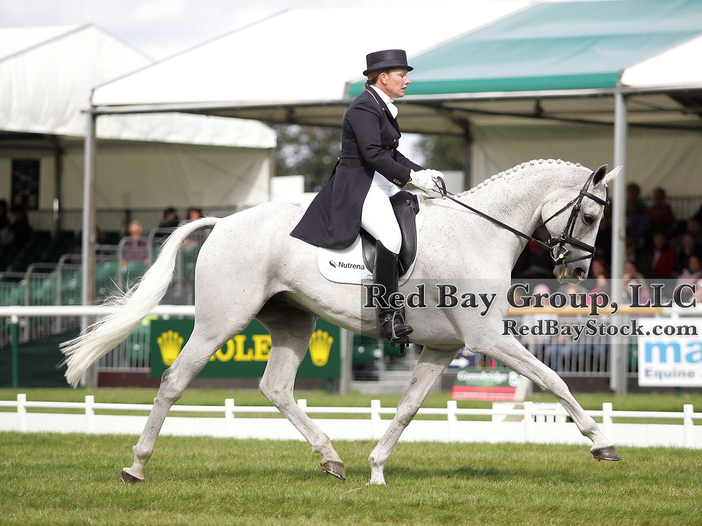 Becky Holder (USA) and Courageous Comet at the 2011 Land Rover Burghley Horse Trials in Stamford, UK.