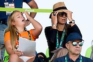 RIO DE JANEIRO - Koning Willem-Alexander, koningin Maxima en de prinsesjes Amalia, Alexia en Ariane kijken naar de teamfinale springen in het Olympic Equestrian Centre tijdens de Olympische Spelen in Rio.  Willem-Alexander is met zijn gezin te gast bij de landenfinale van de springruiters tijdens de Olympische Spelen van Rio.  King Willem-Alexander,  anp  IMAGES ROBIN UTRECHT