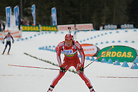 Ole Einar Bjoerndalen (NOR) places second in the World Cup Biathlon men's Sprint Competition on March 13, 2009