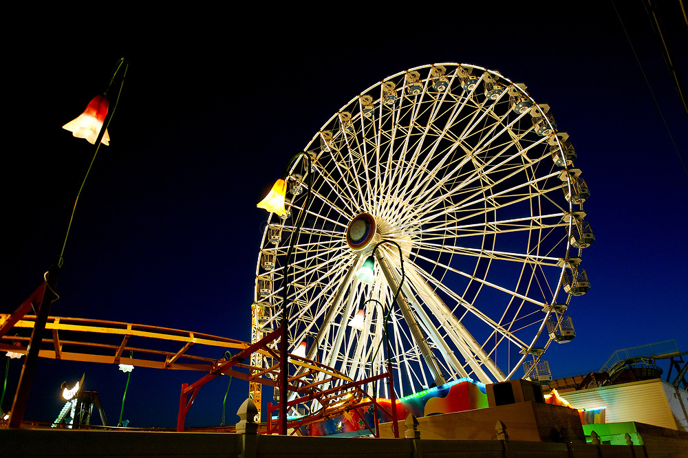 Amusement ride at the boardwalk, Ocean City, New Jersey, USA