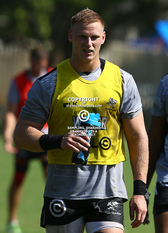 DURBAN, SOUTH AFRICA, 4 April, 2016 -Jean-Luc du Preez during The Cell C Sharks training session  at Growthpoint Kings Park in Durban, South Africa. (Photo by Steve Haag)<br /> images for social media must have consent from Steve Haag