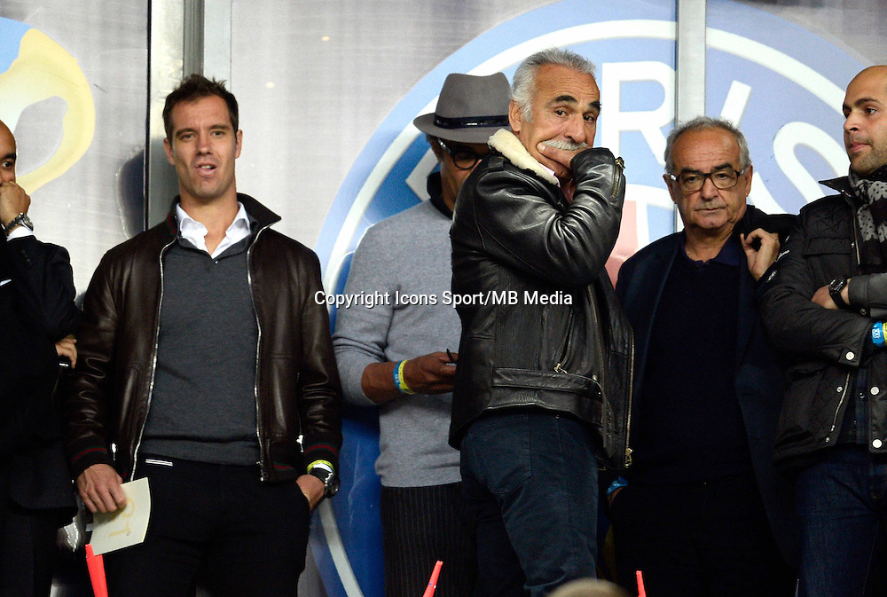 Yannick NOAH  / RICHARD GASQUET  / Mansour Bahrami    - 11.04.2015 -  Bastia / PSG - Finale de la Coupe de la Ligue 2015<br />