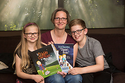 Elke Barber with her children Alex Barber (11) and Olivia Thompson-Barber (9). She started writing books for children to help with the loss of a parent.