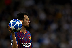 October 3, 2018 - London, England, United Kingdom - Sergio Busquets of Barcelona during the Group B match of the UEFA Champions League between Tottenham Hotspurs and FC Barcelona at Wembley Stadium on October 03, 2018 in London, England. (Credit Image: © Jose Breton/NurPhoto/ZUMA Press)