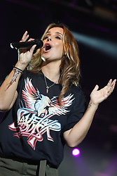 Louise Redknapp plays the Isle of Wight festival. The former Eternal star wore khaki trousers and a black t-shirt as she played the Big Top Tent at the 50th IOW festival. . 23 Jun 2018 Pictured: Louise Redknapp plays at the Isle of Wight festival . Photo credit: MEGA TheMegaAgency.com +1 888 505 6342