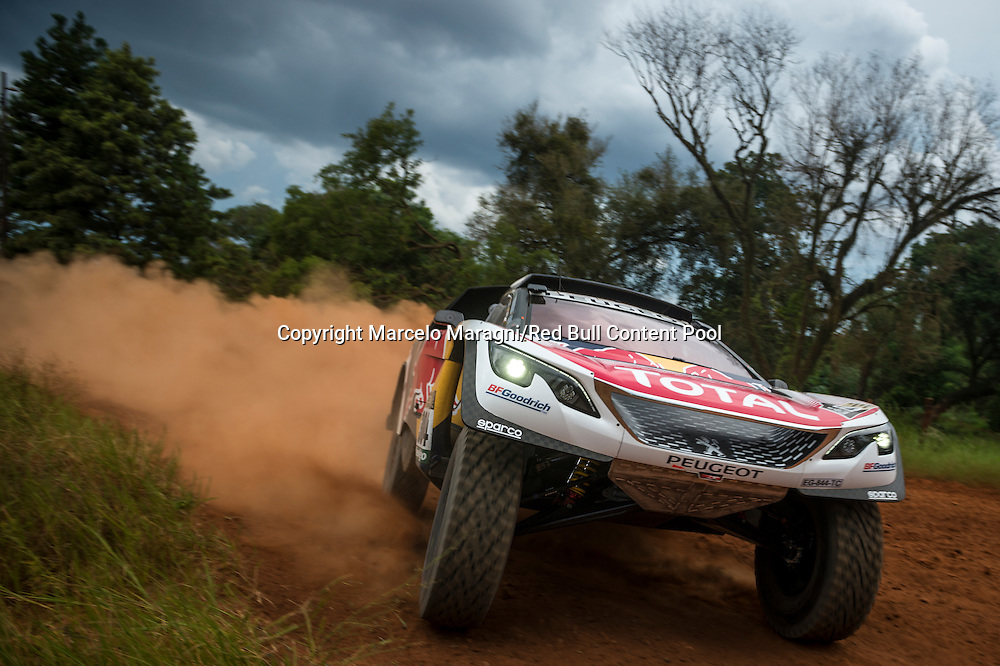 Carlos Sainz (ESP) of Team Peugeot Total tests prior Rally Dakar 2017 in Asuncion, Paraguay on December 30, 2016 // Marcelo Maragni/Red Bull Content Pool // P-20161231-00054 // Usage for editorial use only // Please go to www.redbullcontentpool.com for further information. //