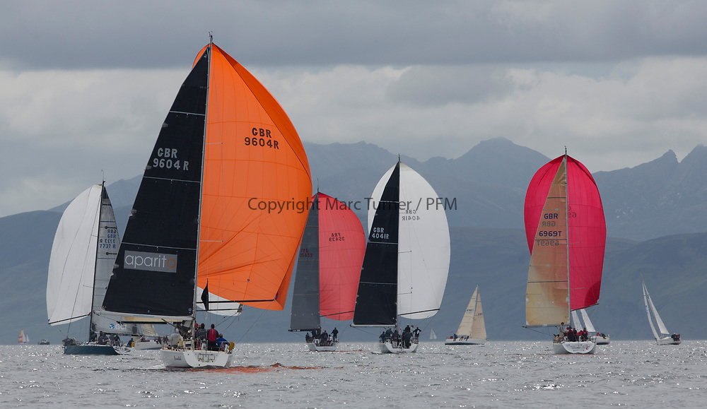 Silvers Marine Scottish Series 2017<br /> Tarbert Loch Fyne - Sailing Day 3<br /> <br /> Class One Downwind, GBR9604R, Nunatak, Chris Frost, RORC, J120