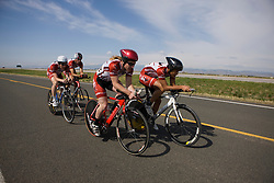 The Cumberland University team of Eric Anderson, Peter Fairbanks, Henrique Furtado, Alejandro Padilla, and Whitney Stanbrough competes in the men's division 2 race.  The 2008 USA Cycling Collegiate National Championships Team Time Trial event was held near Wellington, CO on May 9, 2008.  Teams of 3 or 4 riders raced over a 20km out and back course that ran along a service road to Interstate 25.