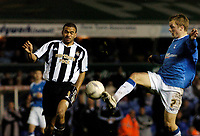 Photo: Leigh Quinnell.<br /> Birmingham City v Newcastle United. The FA Cup. 06/01/2007. Newcastles Kieran Dyer clashes with Birminghams Sebastian Larsson.