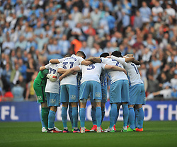 COVENTRY CITY  HUDDLE BEFORE KICK OFF, Coventry City v Oxford United, EFL Checkatrade Trophy Final, Wembley Stadium Sunday 2nd April 2017, <br /> Score Coventry 2-1 Oxford<br /> PhotoMike Capps