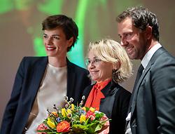 02.03.2019, Haus der Musik, Innsbruck, AUT, SPÖ Tirol, Parteitag Tiroler SPÖ mit Wahl des Obmannes, im Bild v.l. SPÖ-Chefin Pamela Rendi-Wagner, Klubobfrau Elisabeth Blanik, designierte Parteivorsitzende der Tiroler SPÖ, Georg Dornauer // during a Party Congress of the Tyrolean SPÖ with election of the chairman at the Haus der Musik in Innsbruck, Austria on 2019/03/02. EXPA Pictures © 2019, PhotoCredit: EXPA/ Johann Groder