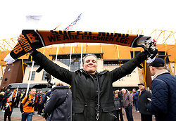 Wolverhampton Wanderers fan with a scarf - Mandatory by-line: Robbie Stephenson/JMP - 15/04/2018 - FOOTBALL - Molineux - Wolverhampton, England - Wolverhampton Wanderers v Birmingham City - Sky Bet Championship