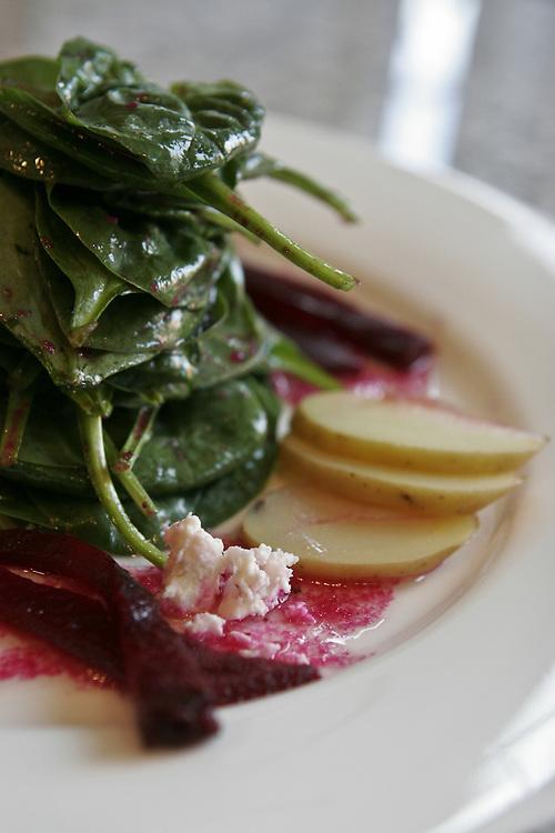 Spinach and beet salad at Napa 1015