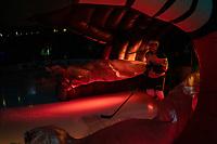 KELOWNA, CANADA - JANUARY 25: Alex Swetlikoff #17 of the Kelowna Rockets enters the ice through Ogi against the Victoria Royals  on January 25, 2019 at Prospera Place in Kelowna, British Columbia, Canada.  (Photo by Marissa Baecker/Shoot the Breeze)