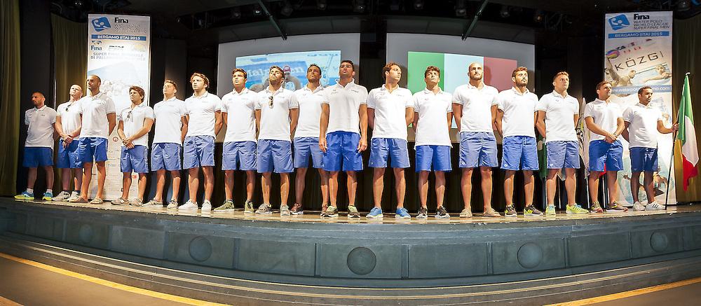ITALY<br /> Opening Ceremony<br /> day 00 - 22/06/2015<br /> FINA Water Polo World League Superfinal Men<br /> Bergamo (ITA) 23-28 June 2015<br /> Photo G.Scala/Deepbluemedia