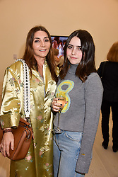 Vassi Chamberlain and her daughter Allegra Harris at a preview of the 'From Selfie To Self-Expression' exhibition at The Saatchi Gallery, Duke Of York's HQ, King's Road, London, England. 30 March 2017.