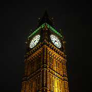 St Patrick's day London Icon go Green first time in history at the Beg Ben on 17th March 2017. by See Li