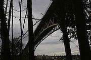 The nearly 3,000-foot-long Aurora Bridge looms high above Seattle's Fremont neighborhood. (Ken Lambert/The Seattle Times)