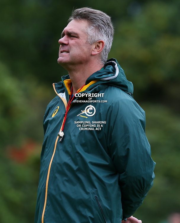 LONDON, ENGLAND - OCTOBER 14: Heyneke Meyer (Head Coach) of South Africa during the South African national rugby team training session at Pennyhill Park on October 14, 2015 in London, England. (Photo by Steve Haag/Gallo Images)
