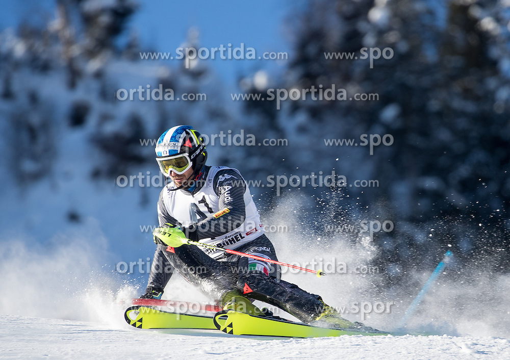 22.01.2017, Hahnenkamm, Kitzbühel, AUT, FIS Weltcup Ski Alpin, Kitzbuehel, Slalom, Herren, 1. Lauf, im Bild Manfred Moelgg (ITA) // Manfred Moelgg of Italy in action during his 1st run of men's Slalom of FIS ski alpine world cup at the Hahnenkamm in Kitzbühel, Austria on 2017/01/22. EXPA Pictures © 2017, PhotoCredit: EXPA/ Johann Groder