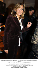 PRINCESS CHANTAL OF HANOVER  at a party in London on 18th November 2003.<br /> POS 166